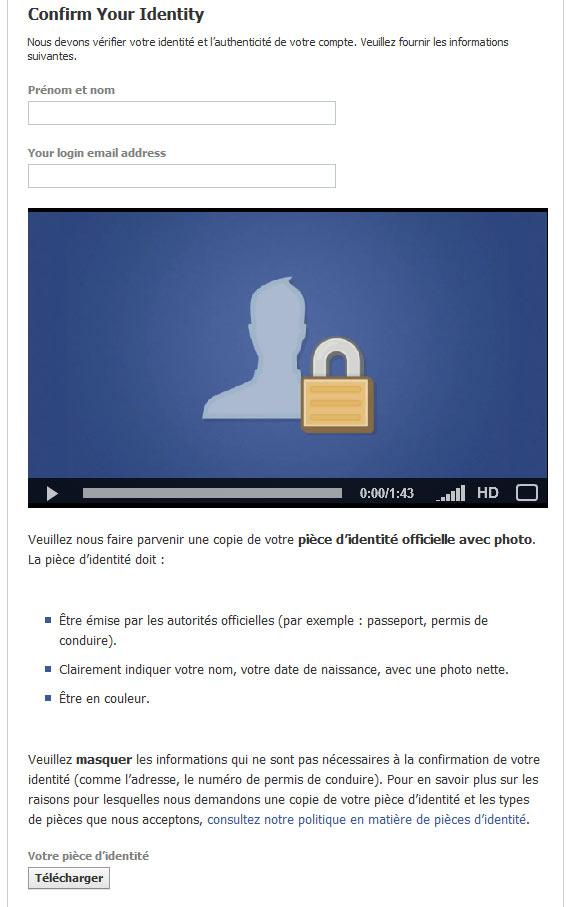 facebookidentité