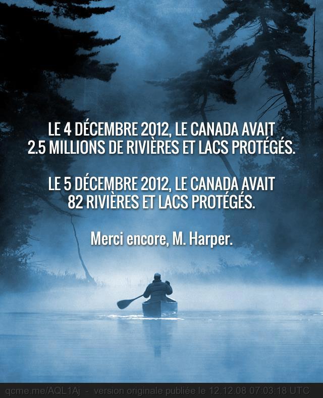 """Campagne de """"publicité"""" du collectif """"eau secours"""" au Québec. www.eausecours.org"""